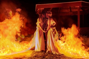 These brides set fire to their wedding dresses after walking down the aisle