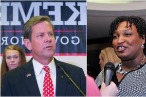 Poll: Abrams leads Kemp by 1 point in Georgia governor's race
