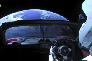 Remember Starman and the Tesla Roadster launched into space? They're now beyond Mars, SpaceX says