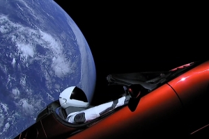 Elon Musk's space Roadster just passed Mars