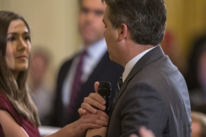 CNN journalist Jim Acosta denied entry to White House after spat with Trump