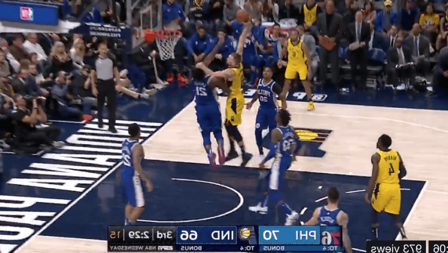 VIDEO: Domantas Sabonis Surprisingly Puts Joel Embiid on a Poster
