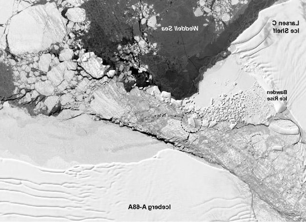 NASA found where that bizarre rectangular iceberg came from