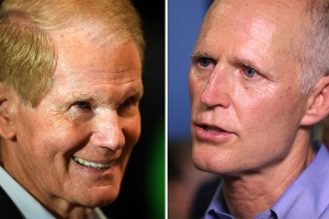 Voting rights groups sue to block Scott from participating in recount