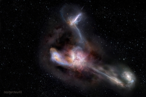NASA spots a distant galaxy that is actually sucking up other galaxies