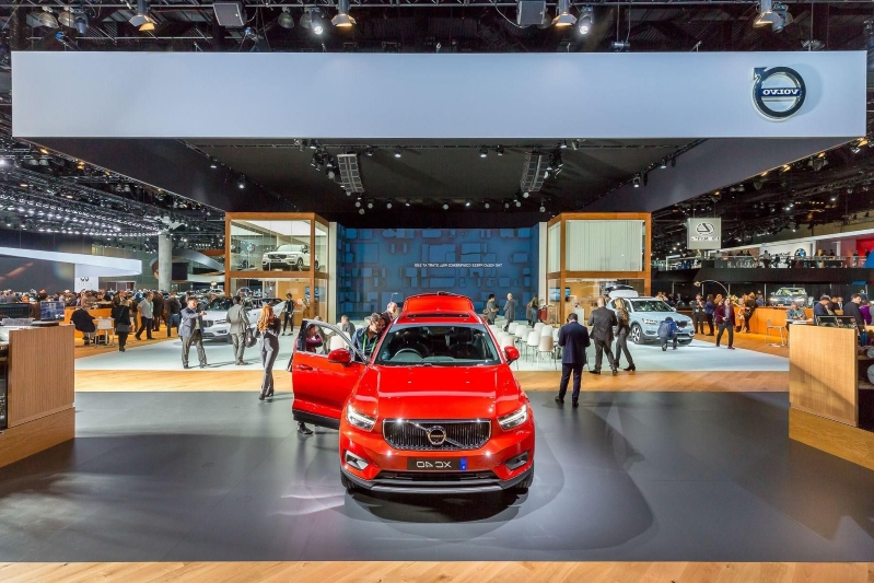 Volvo Exhibition Stand : Auto shows volvo s la auto show stand won t have any cars