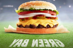 Burger King's Green Bay Whopper Is Topped with Eight – Count 'Em, Eight – Slices of Cheese