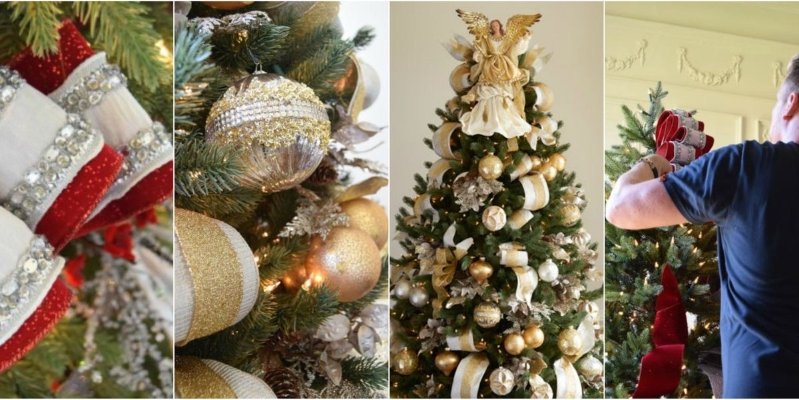 How To Decorate A Christmas Tree Professionally.Home Garden How To Decorate Your Christmas Tree Like A