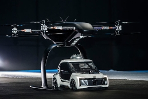 Audi demonstrates Pop.Up.Next air taxi at Amsterdam Drone Week