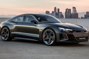 Auto Shows Audi E Tron Gt Concept Electric Sedan Charges Toward