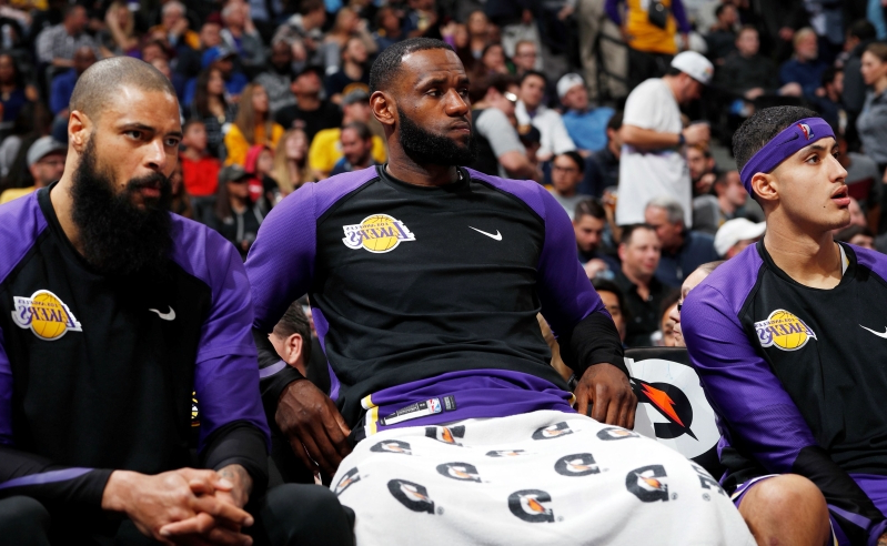 8707c940f Sport  LeBron James and the Lakers have a lot of work to do ...