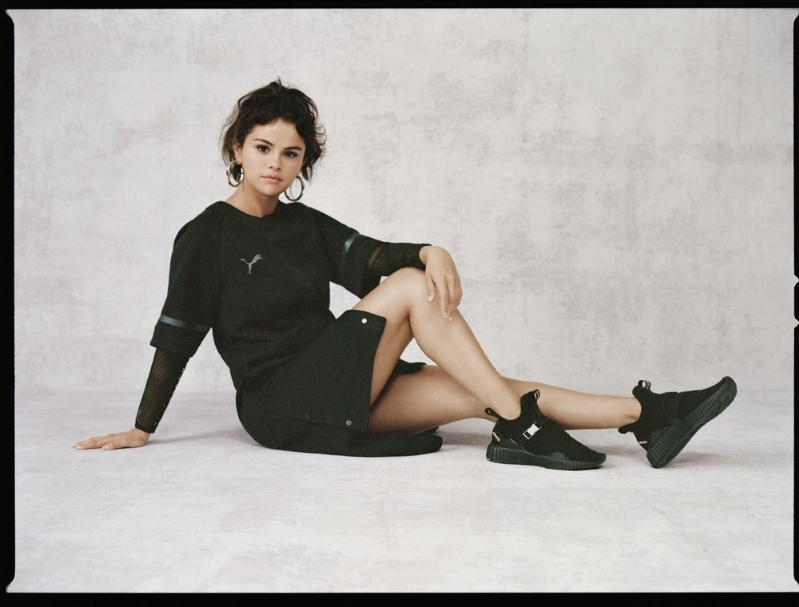 Selena Gomez Says She Gets  Really Insecure Sometimes  as She Launches Powerful  Puma Collection e90301bf5