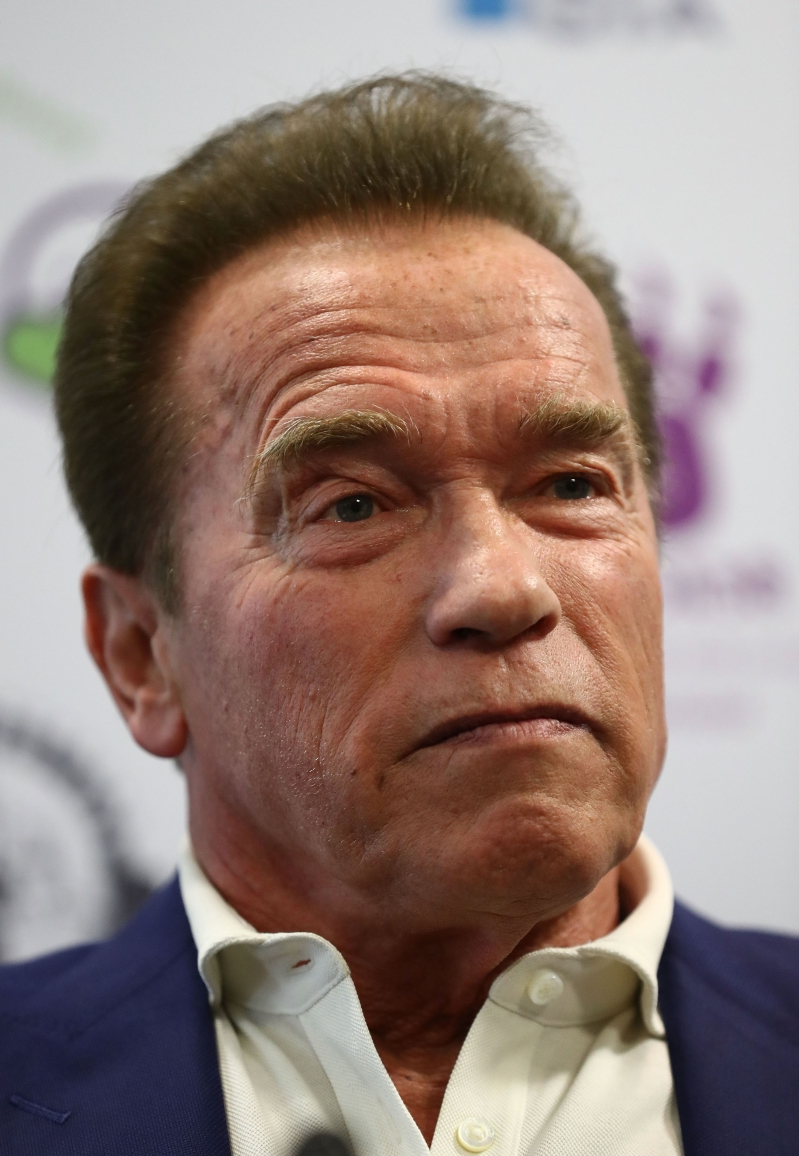 6aa54eb3 Arnold Schwarzenegger's Son Joseph, 21, Looks Just Like His Dad as He Shows  Off