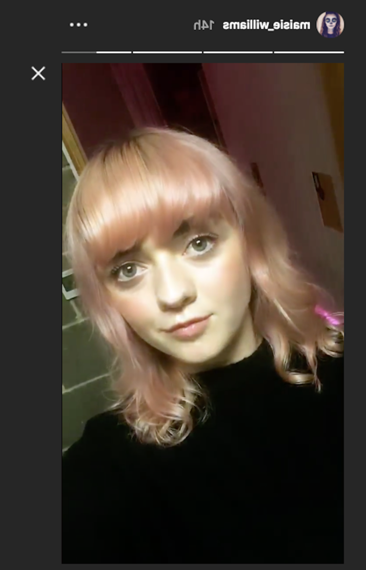 'Game of Thrones' star Maisie Williams shows off her new pink hair
