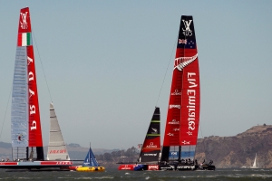 America's Cup crews hone 'flying' AC75 class on and off water