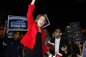 Warren stakes out positions on foreign policy