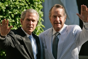 George W. Bush says he learned from his dad people respect leadership over 'followership'