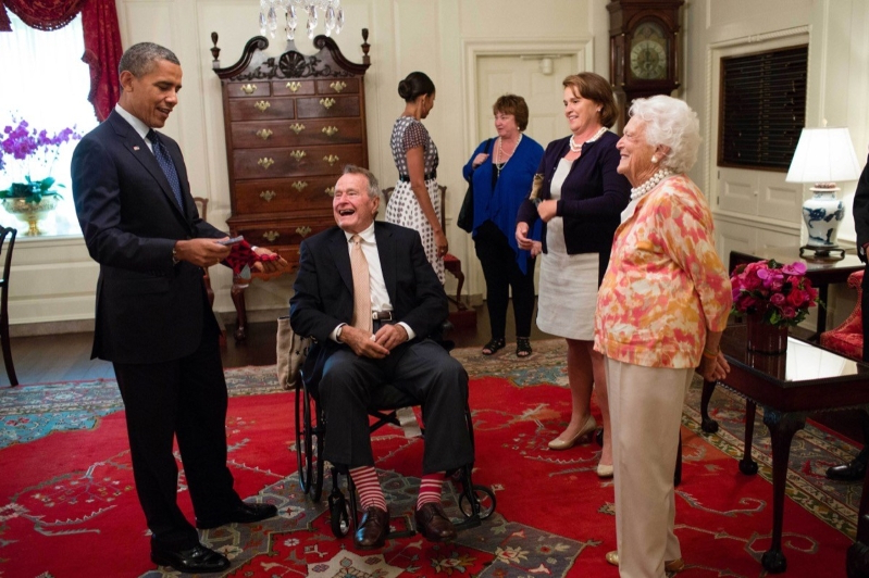 Offbeat Why Lifelong Sock Lover George H W Bush Will Be Buried In