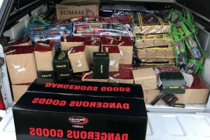 Man charged after 1000 illegal fireworks found in rear tray of ute