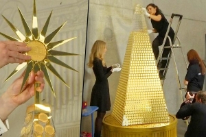Europe's Most Expensive Christmas Tree Is Made of Gold and Valued at $2.6 Million