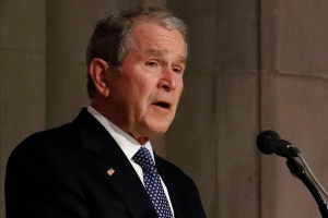 George W. Bush reveals George H.W. Bush's 'last words on Earth' during emotional eulogy