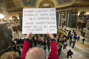 Wisconsin Republicans pass bill to curb incoming Democrats' power