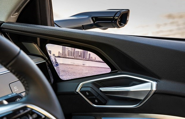 Death of the car wing mirror: New all-electric Audi e-tron ditches door mirrors and replaces them with live video feed from hi-tech cameras (so cyclists can still knock them off)