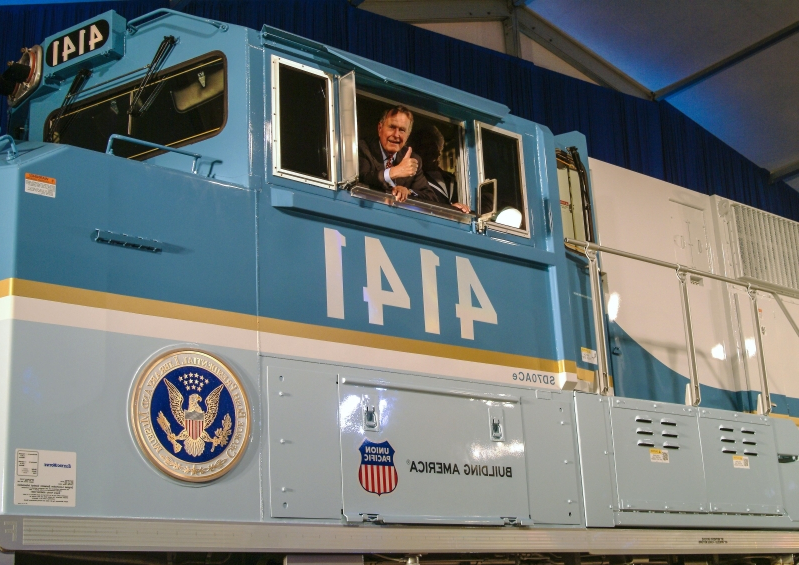 Here's the history behind the Presidential Train Car that will transport George H.W. Bush