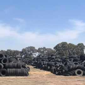 Illegal tyre dump shut down in northern Victoria, after owner jailed