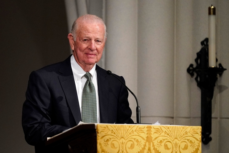 James Baker Fights Back Tears During Emotional Eulogy for Best Friend George H.W. Bush in Texas
