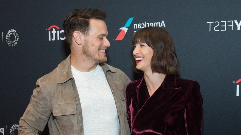 Sam Heughan Writes Sweet Message to 'Outlander' Co-Star Caitriona Balfe After Her Golden Globe Nomination