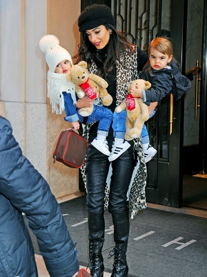 Amal Clooney steps out with her adorable twins Ella and Alexander