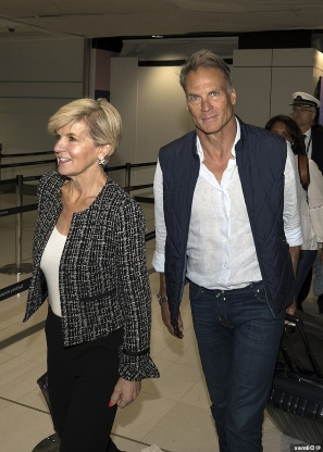 Keeping your friends close! Julie Bishop and her partner David Panton fly to Mexico for Karl Stefanovic's Cabo wedding after months of trading barbs on-air
