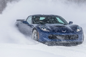 We Put Snow Tires on a Corvette and a Porsche to See How They Handle Snowy Roads