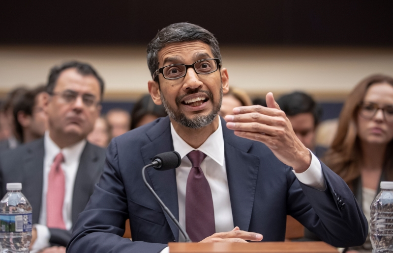 Google chief faces lawmakers concerned with Silicon Valley, but often puzzled by technology