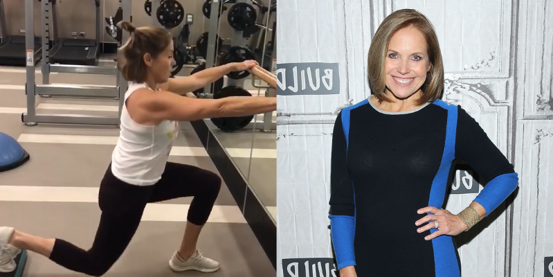 We Can't Stop Looking at Katie Couric's Ripped Arms in This Workout Video