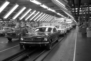Ford's Mustang Assembly Line Through The Years