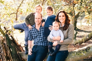 Prince Harry, Meghan Markle, Prince William, and Kate Middleton have released their official Christmas cards, and they're adorable