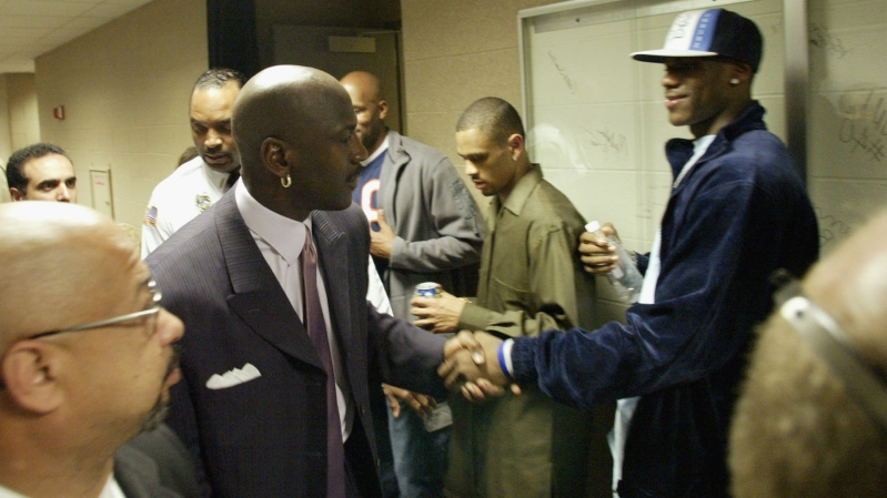 cfd9c716470e LeBron James says meeting Michael Jordan for the first time in 2001 was   like meeting