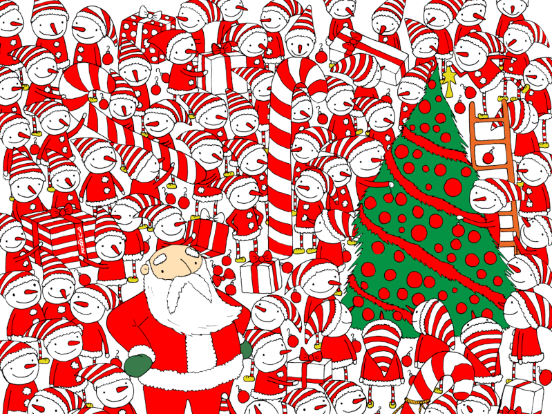 Christmas Brain Teasers.Weird News Can You Find Santa S Hat In This Christmas