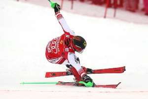 Hirscher storms to Saalbach slalom success