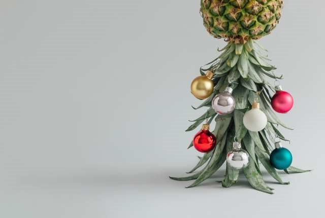 Christmas Pineapple.Offbeat Don T Have Space For A Christmas Tree Decorate A