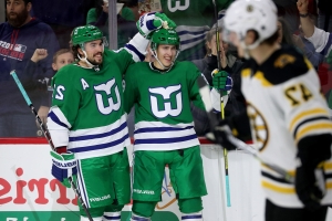 Sport  Aho leads Carolina past Bruins 5-3 on Whalers Night - PressFrom - US 63ecc811c