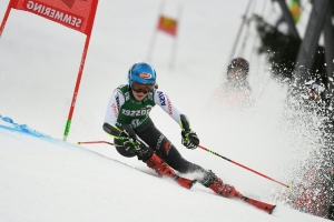 Vlhova wins as Shiffrin made to wait for record