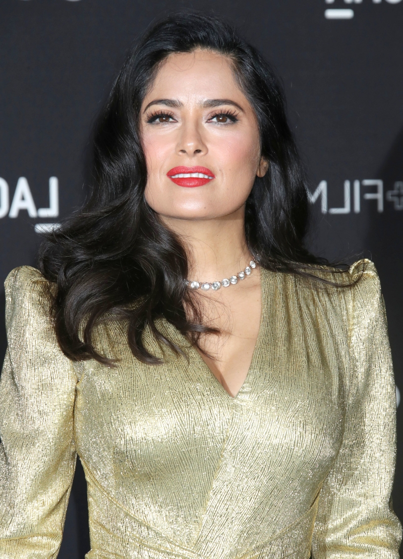 0baae02266 Les_P_tits_Cracks_Charity_Dinner_at_Pavillon_des_Champs_Elysees_Paris_25apr2013_.  Salma Hayek, 52, is the definition of bliss in swimsuit snap: Picture