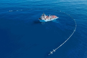 A massive floating device created to clean up the Pacific Ocean breaks down