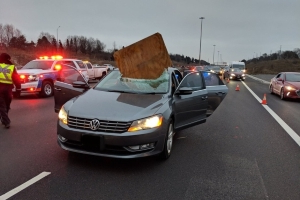 'Thanks to God, we are alive': driver recounts narrow escape after highway plywood crash