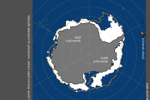 Antarctic ice melts to January record low