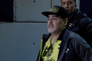 Soccer legend Maradona in hospital with internal bleeding