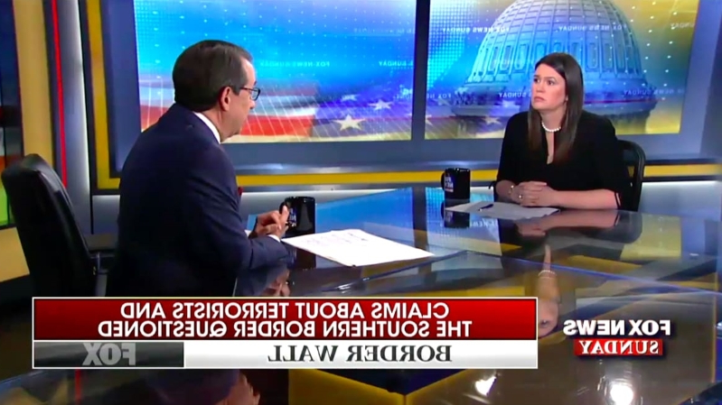 Fox News' Chris Wallace Shuts Down Sarah Huckabee Sanders' Claim About Terrorists Crossing Border